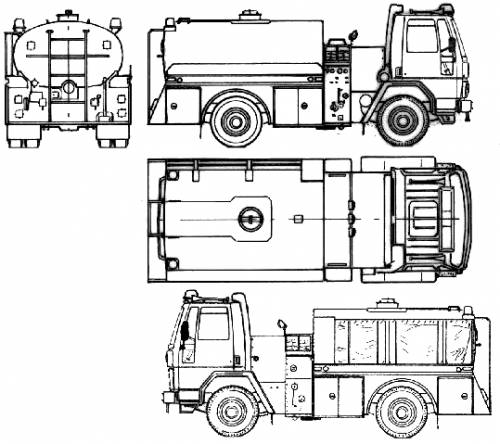 Ford E Cargo CF7000 Fire Truck (1986)