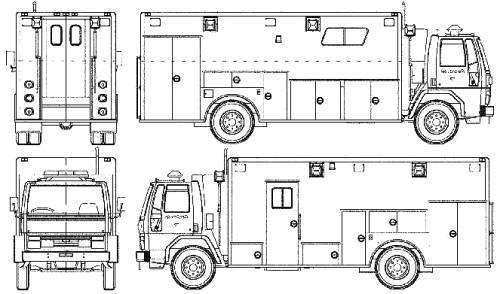 Ford E Cargo CF8000 Fire Truck