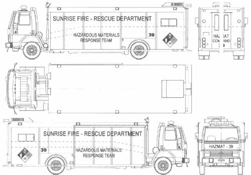 Ford E Cargo CF8000 Fire Truck (1988)