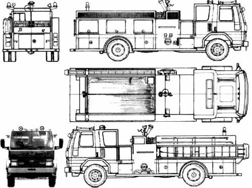 Ford E Cargo CF8000 Fire Truck (1990)