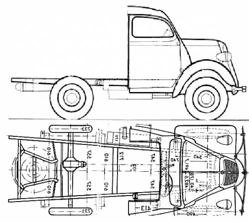 Ford E Fordson Chassis (1950)