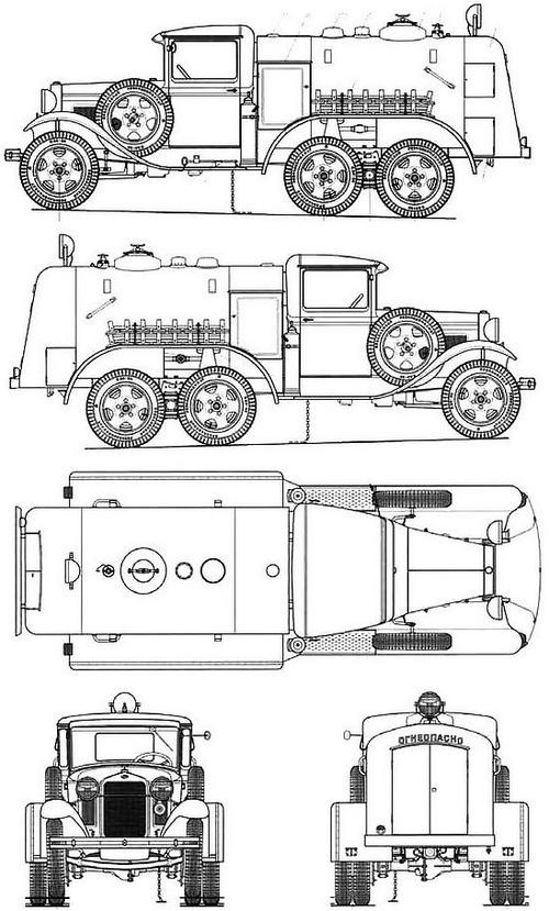 GAZ-AAA BZ-38-3 Fuel Tanker