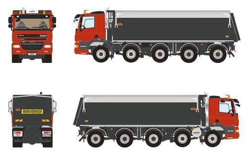 Ginaf 10x4 Dump Truck