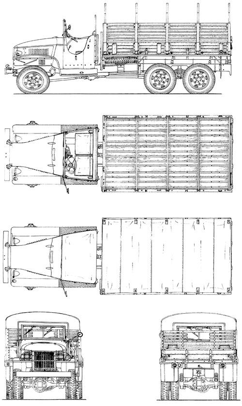 GMC CCKW-353 A2 2.5 ton 6x6 Open Cabin