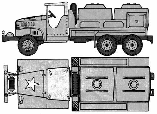 GMC CCKW-353 Gasoline Tank Truck