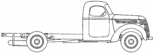 International D-35 Truck -9 (1937)