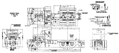 International Haevester M40 5ton 6x6 Chassis (1959)