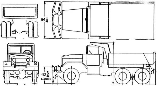 International Haevester M51 5ton 6x6 Dump (1959)