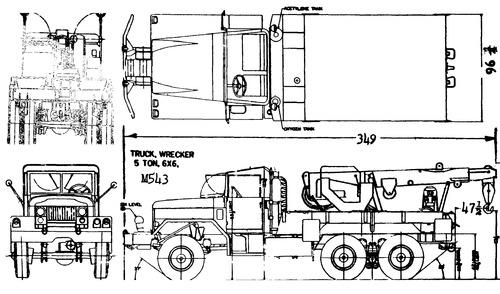International Haevester M543 5ton 6x6 Wrecker (1959)