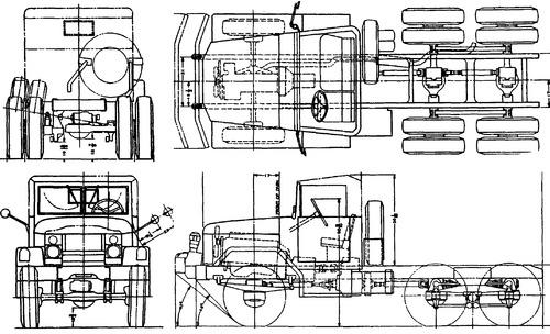 International Haevester M58 5ton 6x6 Chassis (1959)