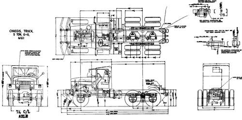 International Haevester M61 5ton 6x6 Chassis (1959)