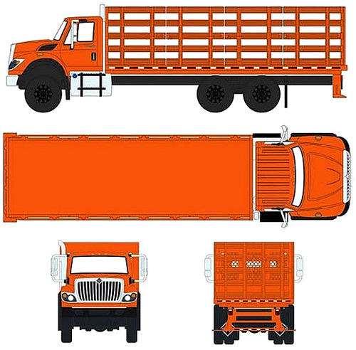 International WorkStar Platform Stake Truck (2017)