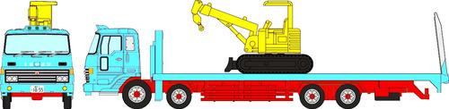 Isuzu New Power Heavy Equipment Carrier