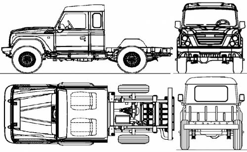 Iveco Massif 4x4 25S15 Cabine (2010)