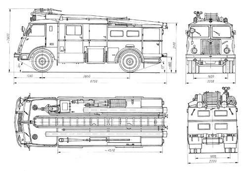 Jelcz 003 Fire Truck (1969)