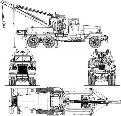 Kenworth 572 6ton Ward-La France M1 Heavy Wrecker Model 1000 Series 1 1941