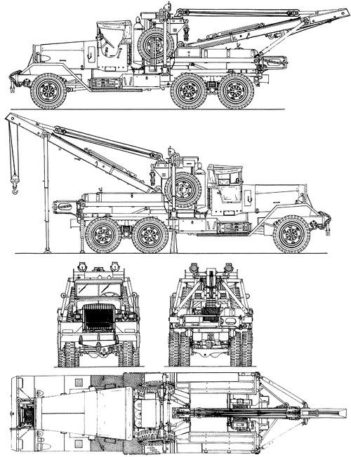 Kenworth 573 Ward La France M1A1 6ton 6x6 Crane (1941)