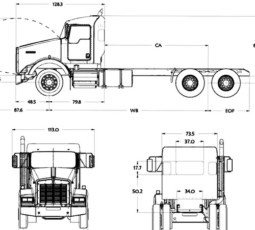 Kenworth T800 Day Cab (2016)