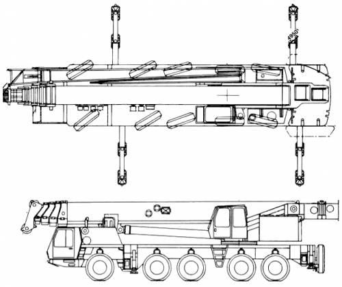 Krupp KMK5175 175ton Crane (2006)