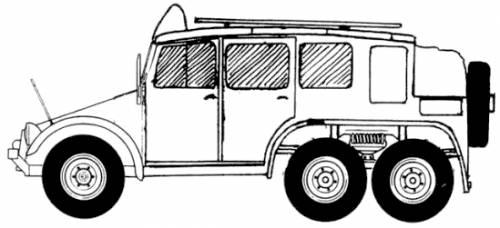 Krupp Protze Kfz.19 Fernsprech Betriebswagen