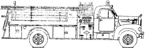 Mack B85 fire truck 1956