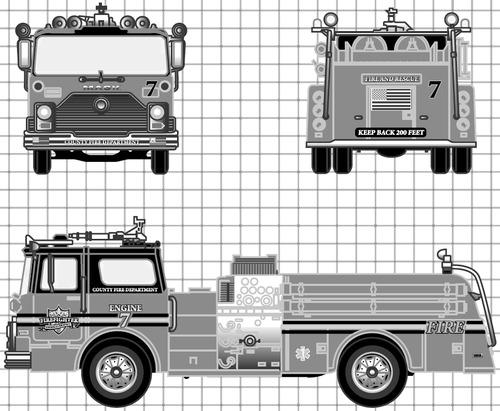 Mack CF600 Fire Pumper