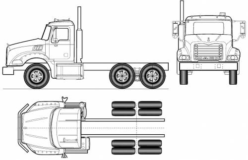 Mack Granite Axle Back GU813 6x4 (2011)