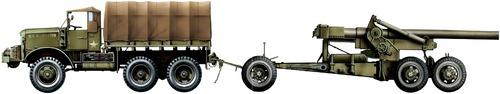 Mack NO 7.5ton 6x6 + 155mm M2 Long Tom