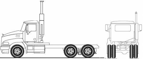 Mack Pinnacle Axle Back CXU613 6x4 (2011)