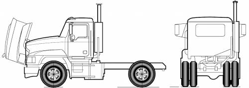 Mack Pinnacle Axle Forward CHU612 4x2 (2011)