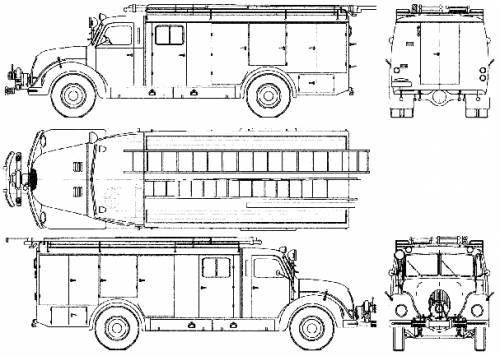 Magirus-Deutz F Mercur 125 Fire Truck (1956)
