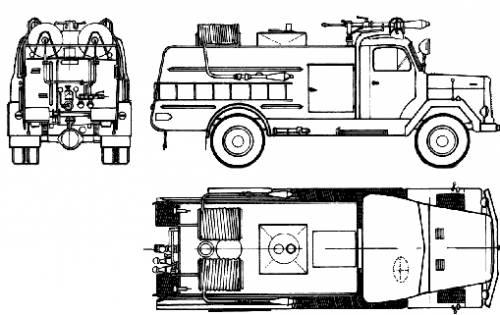 Magirus-Deutz FLF24-B 5 Fire Truck (1973)