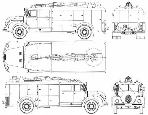 Magirus-Deutz Jupiter S7500 Fire Truck (1955)