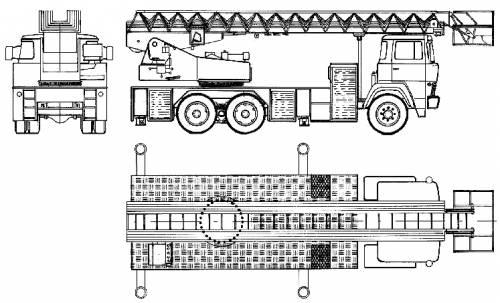 Magirus-Deutz LB30-5 Fire Truck (1977)