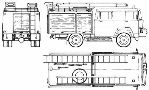 Magirus-Deutz LF16 TS-1 Fire Truck (1975)