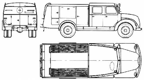 Magirus-Deutz TLF16 Fire Truck (1960)