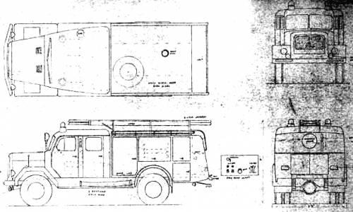 Magirus TLF-16 Fire Truck (1964)