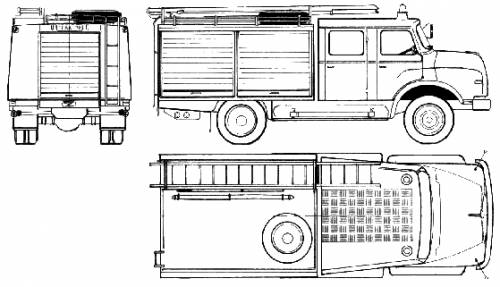 MAN 11.168 TLF Fire Truck (1977)