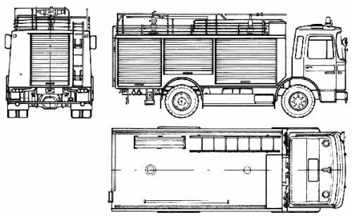 MAN 14.192 F-35 Fire Truck (1985)