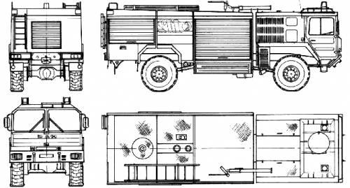 MAN 14.361 FAEG 4x4 Fire Truck (1988)