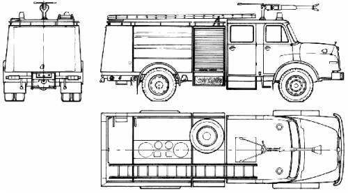 MAN 15.240 H Fire Truck (1984)