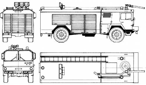 MAN 7 TGL 4x4 Fire Truck (1986)