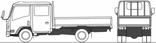 Mazda Titan Flat Bed Twin Cab 2.5t EL (2010)