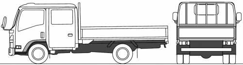Mazda Titan Flat Bed Twin Cab 2.5t M (2010)