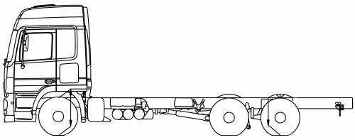 Mercedes Actros 25 DNA 6x2