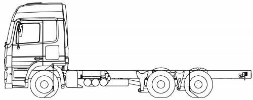Mercedes Actros 25 Lena 6x2