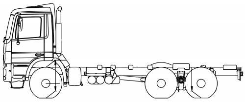 Mercedes Actros 33 B 6x4