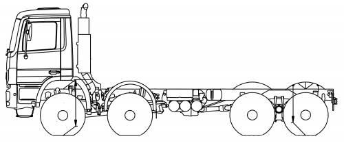 Mercedes Actros 41 AK 8x8