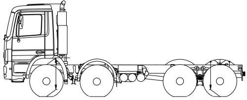 Mercedes Actros 41 K 8x4