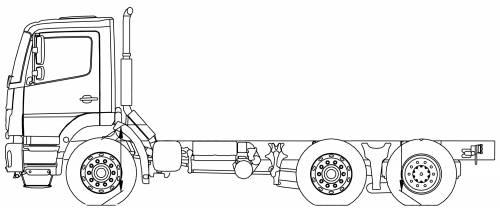Mercedes Axor 26 LHV VLA 6x2